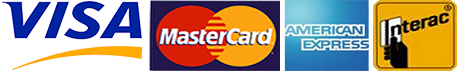 visa, mastercard, american express, interac