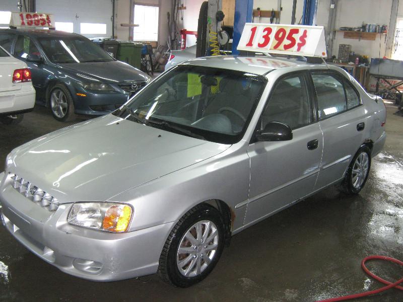 Hyundai Accent GL 2002 à vendre à Ste-Anne-des-Plaines PETIT BUDGET !!!