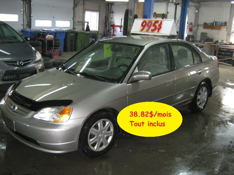 Honda Civic LX 2003 à vendre à Ste-Anne-des-Plaines PETIT BUDGET !!!